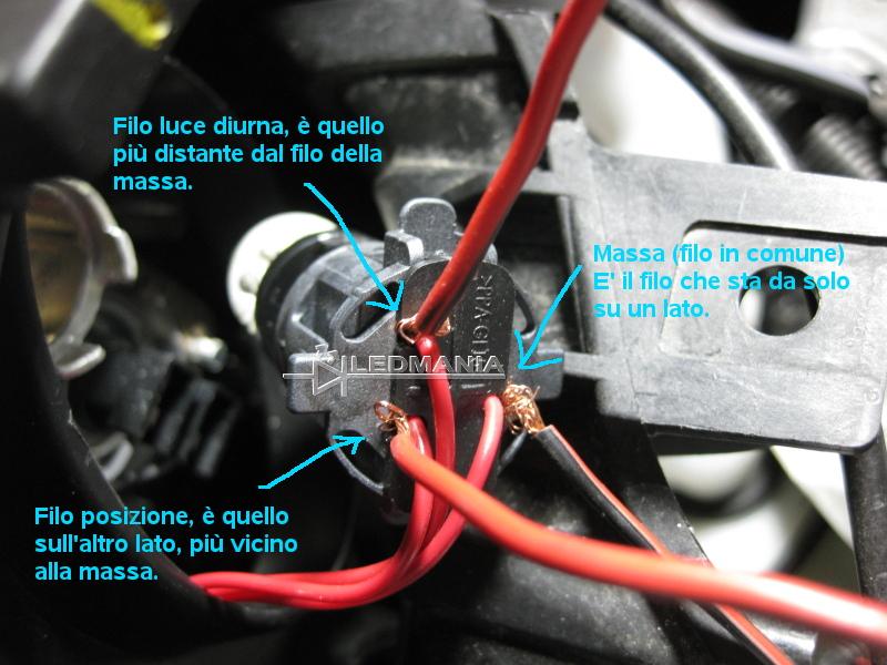 Schema Collegamento Luci Diurne : Kit luci diurne drl con led metallici samsung w per alfa